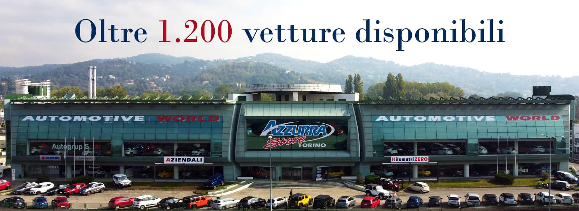 1200 vetture disponibili
