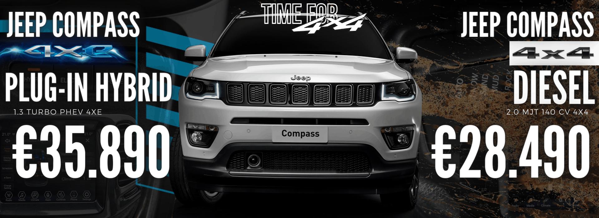 Jeep Compass 4x4 e 4xe